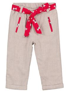 Pantaloni Ecrù GISANPAN / 19WG09C1PAN007