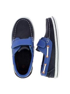 Boys' leather boat shoes CGBATVEL / 18SK36W1D4NC218