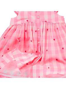 Baby girls' checked dress CIHOROB3 / 18SG09E2ROB099