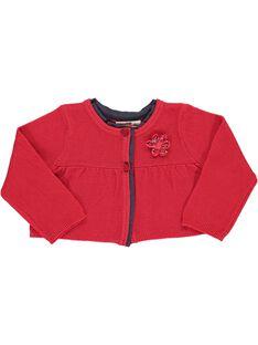 Baby girls' bolero cardigan CIDECAR3 / 18SG09F3CARF518
