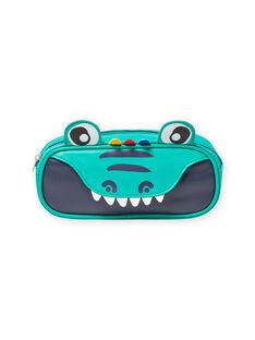 Trousse verde con motivo coccodrillo bambino MYOCLATROU / 21WI02G1TROG614