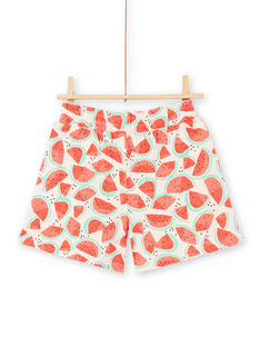 Shorts in jersey, stampa cocomero LAJERSHORT1 / 21S901F1D30D322
