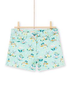 Shorts con stampa koala, fiori e palme LAVERSHORT3 / 21S901Q3SHOG621
