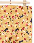 Leggings gialli e rossi con stampa a fiori neonata MYIMIXLEG / 21WI09J1CALB106