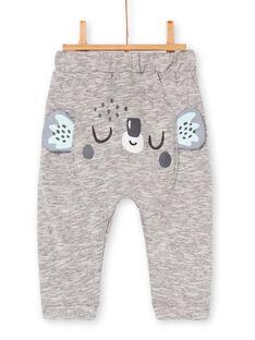 Pantaloni grigio melange neonato LUPOEPAN3 / 21SG10Y4PANA011