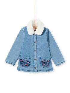 Giacca in jeans blu bambina MAPAVESTE / 21W90151VESP274