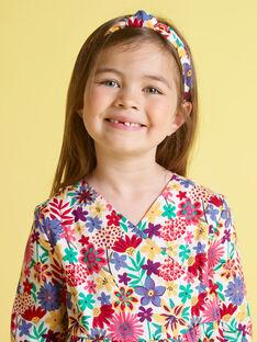 Abito a maniche lunghe con stampa a fiori colorata bambina MAMIXROB2 / 21W901J3ROB009