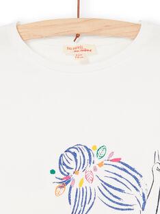 T-shirt ecrù e blu LANAUTI2 / 21S901P1TMC001