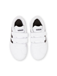 Sneakers bianche e nere Adidas bambino JGDB1837 / 20SK36Y2D35000