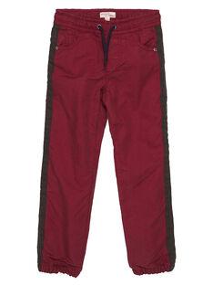 Pantaloni con fodera rossi GOBRUPAN1 / 19W902K2PAN511