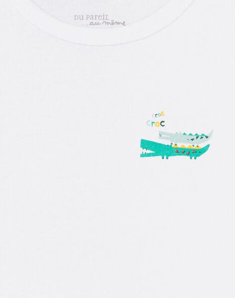 Set 2 t-shirt grigio melange e bianco bambino LEGOTELCRO / 21SH1223HLI000