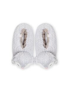Pantofole grigie pinguino 3D bambina MAPANTPING3D / 21XK3531PTD940