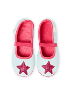 Pantofole grigio melange motivo stella bambina MAPANTSTAR / 21XK3536D07943