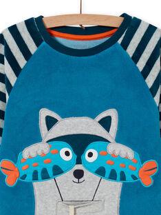 Completo pigiama grigio motivo orsetto lavatore bambino MEGOPYJRAC / 21WH1286PYJC235