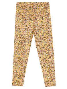 Leggings bambina gialli a pois multicolore JYATROLEG1 / 20SI01F1CALB102