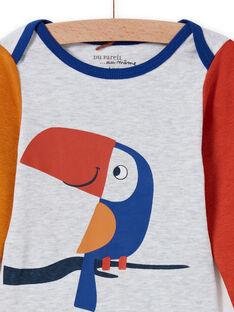 Body a maniche lunghe multicolore con motivo tucano neonato MEGABODTOU / 21WH14C3BDLJ920