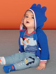 Cardigan con cappuccio blu e bianco neonato LUCANGIL