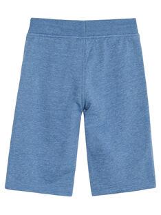 Bermuda felpati bambino basic blu melange JOJOBER5EX / 20S90256D25C206