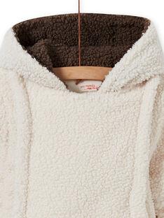 Tutina imbottita ecrù in sherpa orsetto neonato MUGROPIL / 21WG1061PIL001