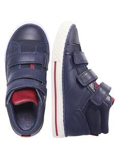 Sneakers pelle navy bambino GGBASTRIVM / 19WK36I6D3F070