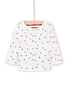 T-shirt double face bianca e rossa neonata MIMIXTEE / 21WG09J1TML001