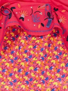 Abito rosa con ricamo tucani LANAUROB3 / 21S901P3ROBF507