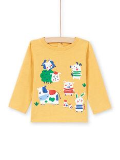 T-shirt gialla neonato MUMIXTEE2 / 21WG10J3TML117
