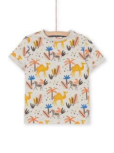 T-shirt ecrù con stampa dromedario e palma bambino LOTERTI1 / 21S902V4TMC006