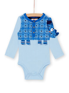 Heather blue BODY SUIT KUSABOD / 20WG10O1BODC222