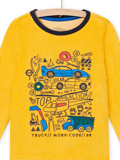 Pigiama bicolore con motivi veicoli bambino MEGOPYJVOI / 21WH1298PYJ113