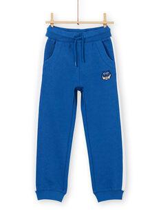 Pantaloni sportivi blu bambino LOBLEJOG / 21S902J1JGB702