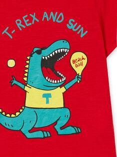 T-shirt rossa in cotone bambino LOJOTI4 / 21S90232TMC050