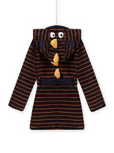 Vestaglia blu notte a righe con motivo mostro bambino MEGOROBMON / 21WH1291RDC705