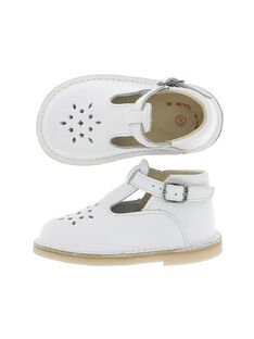 Unisex babies' leather T-bar shoes CBGSALBASI1 / 18SK38W6D3H000