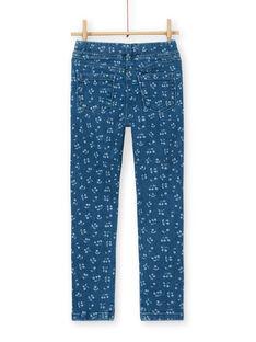 Jeggings blu con stampa ciliegie LAJOJEG1 / 21S90142D2BP274