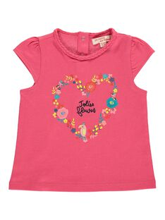 Baby girls' short-sleeved T-shirt CIFRITI / 18SG09H1TMCD312