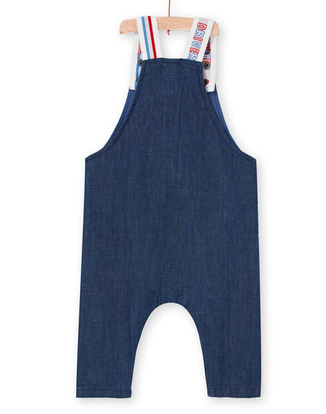 Salopette in jeans blu scuro neonato LUHASAL2 / 21SG10X1SALP274