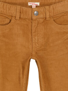 Pantaloni in Velluto Cammello Regular GOJOPAVEL7 / 19W902L4D2BI820