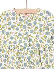 Set abito con stampa a fiori e leggings ecrù e verde acqua neonata MIKAENS / 21WG09I1ENS001