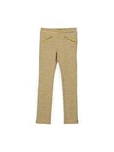 Pantaloni punto Milano jacquard bambina FALIPANT / 19S90121PAN099