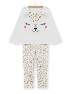 Set pigiama in velluto con stampa leopardo bambina MEFAPYJFEL / 21WH1198PYJ001