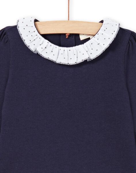 T-shirt navy e bianca neonata MIJOBRA3 / 21WG0913BRA070