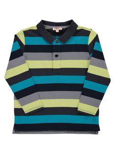 Boys' striped polo shirt DOGIPOL / 18W902N1POL099