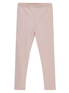 Leggings rosa a pois glitter print. JYAJALEG1 / 20SI01B2CALD332
