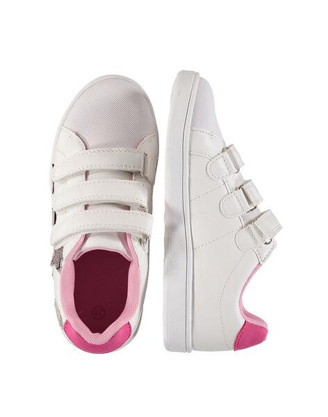 Sneakers da città con patch glitterati bambina FFBASPATCH / 19SK3533D3F000
