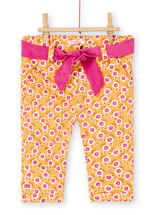 Yellow PANTS KIREPAN / 20WG09G1PAN107