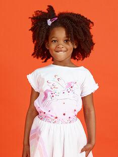 T-shirt bianca sfumata rosa unicorno LAVITI2 / 21S901U3TMC000