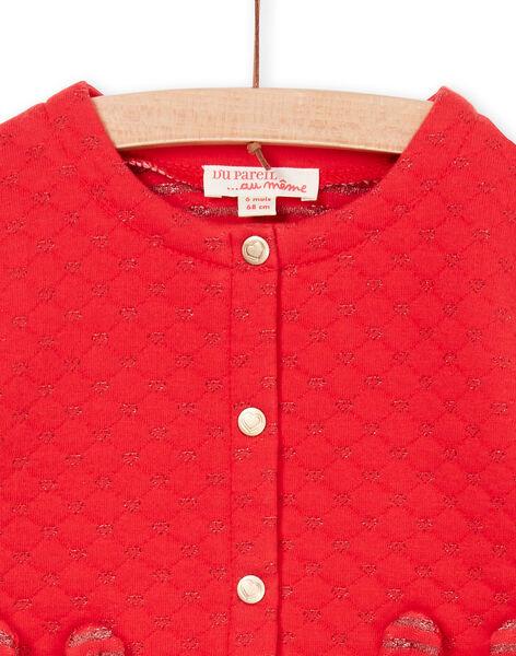 Cardigan rosso neonata LIHACAR / 21SG09X1CAR505