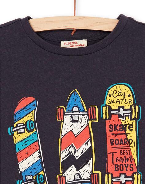 T-shirt nera e rossa - Bambino LOPOETI2 / 21S902Y1TMCJ900