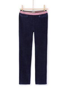 Pantaloni milano blu notte bambina MAJOMIL2 / 21W90118PANC205